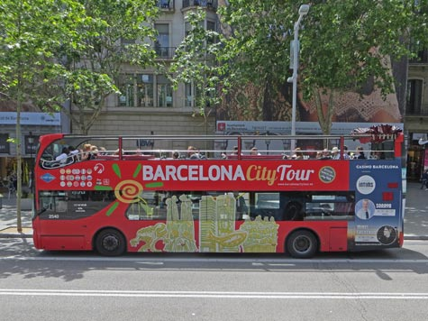 Hop-on Hop-off Bus in Barcelona Spain