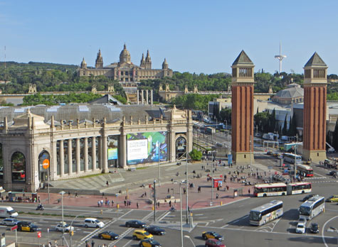 Attractions in Montjuic, Barcelona Spain